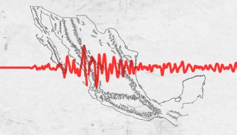Mapa de México partido en dos por sismo