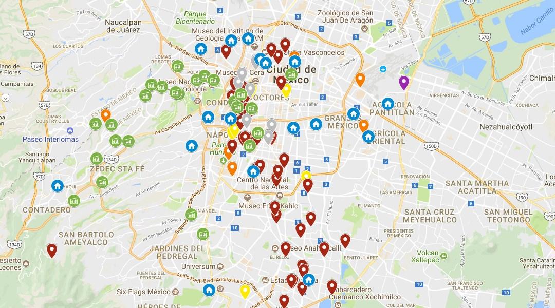 encuentra los albergues y centros de acopio a travs de google maps