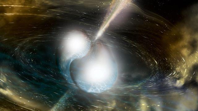 Colisión de dos estrellas de neutrones