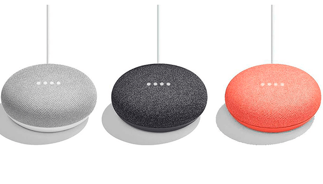 Los tres colores del Home Mini