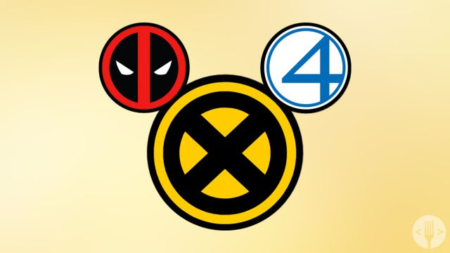 Imagen de Mickey Mouse con Deadpool, Fantastic 4 y X-Men