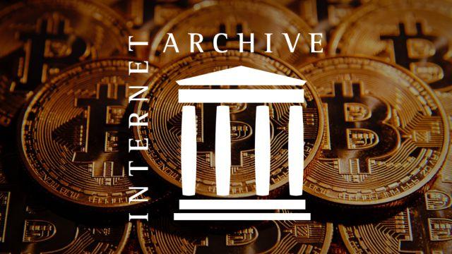 The Internet Archive recibe una donación de 1 millón de bitcoins