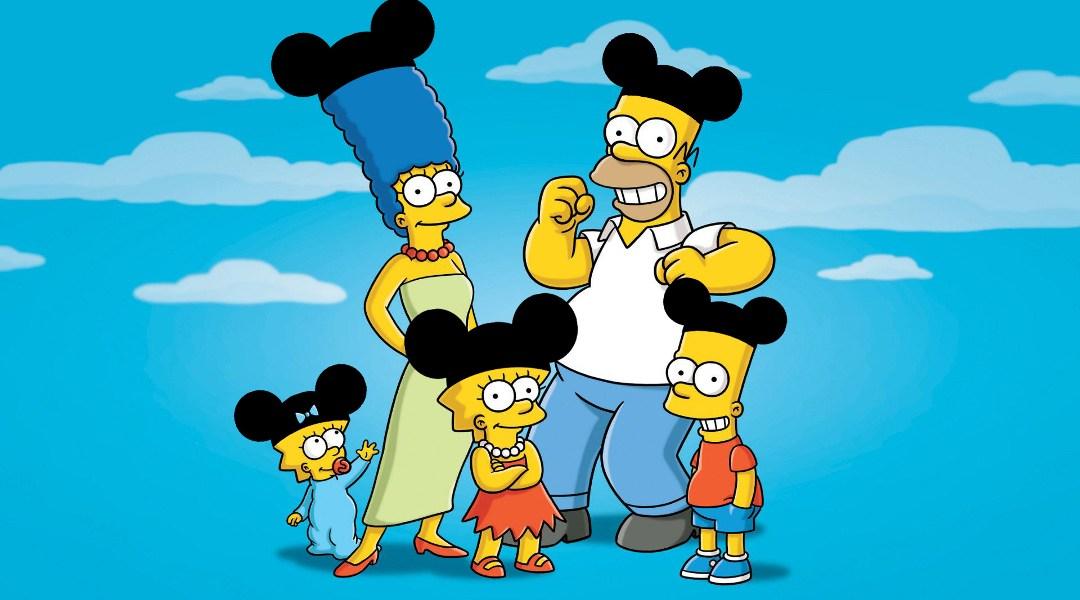 Los simpson con sombrero de Mickey Mouse