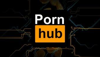 logo de pornhub con fondo negro