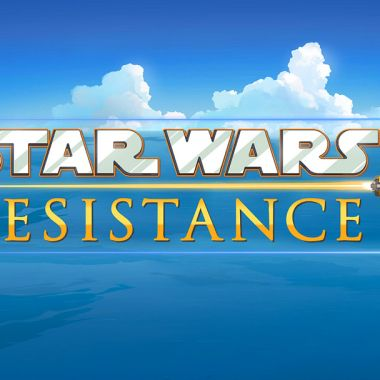 BB-8 al lado del logo de Star Wars: Resistance