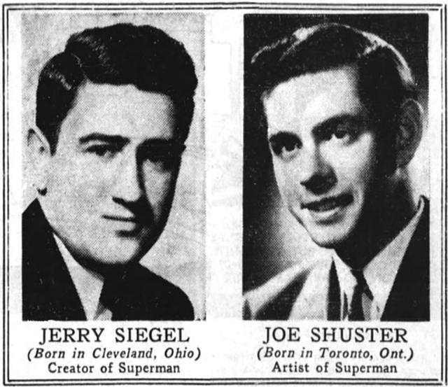 Siegel y Shuster, los creadores de Superman.