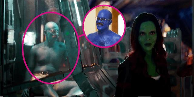 Tobias oculto en una escena de Infinity War