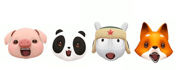 Los animojis de Xiaomi, emojis animados