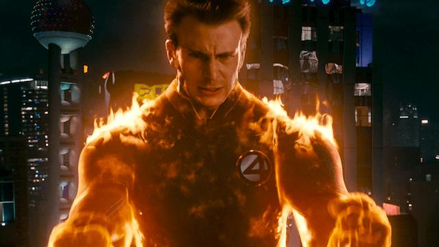 Chris Evans como la Antorcha Humana