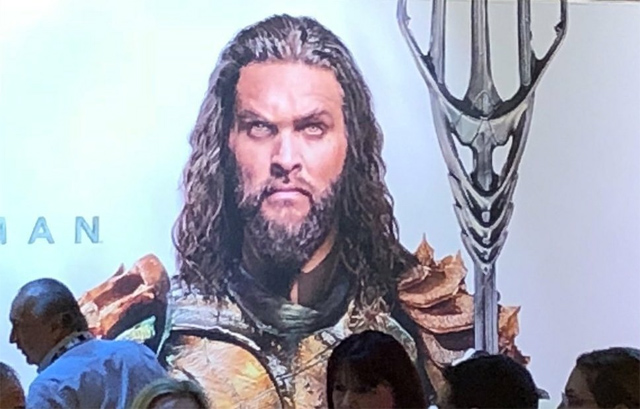 Aquaman poster Licensing Expo