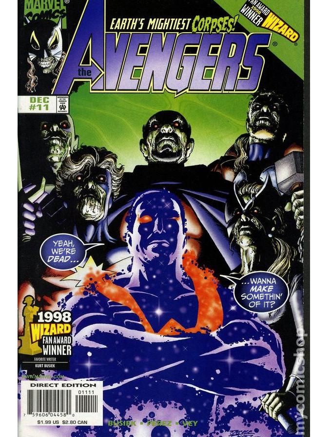 Una de las historias de Avengers en la época de Perez ¿notan el parecido?
