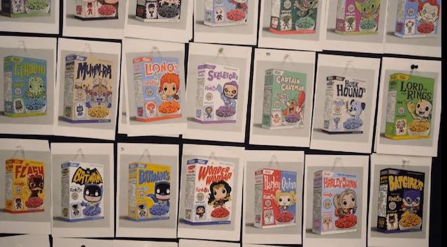 Los cereales de Funko en una versión preliminar.