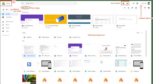 Google Drive cambios
