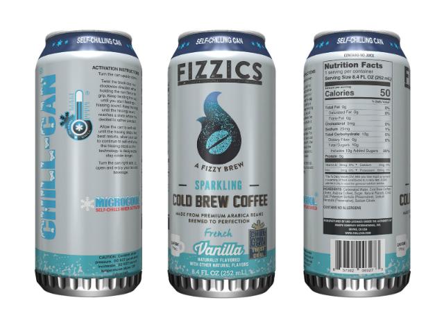 Fizzics Sparkling Cold Brew Coffee latas que se enfrían solas