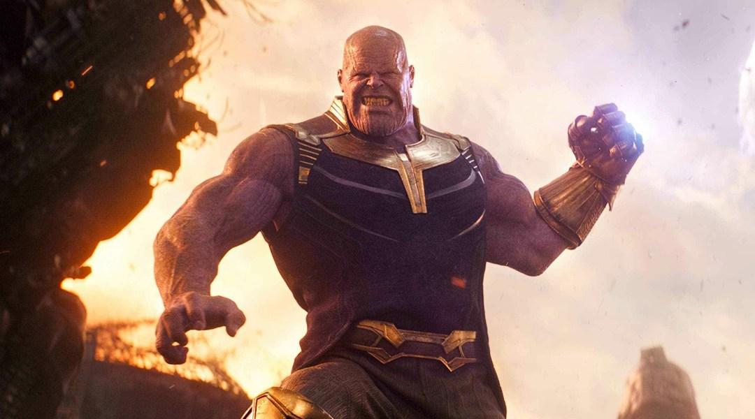 Thanos se pelea con los avengers