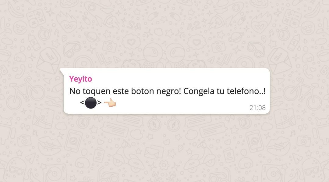 Que Es La Broma Del Boton Negro Que Bloquea Tu Whatsapp