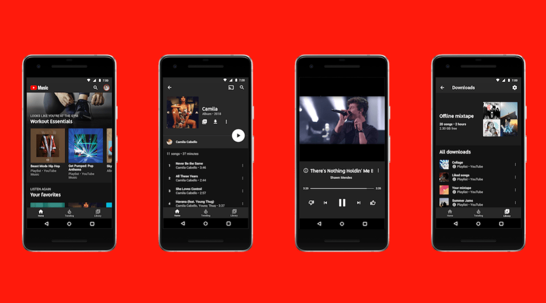 Captura de pantalla de YouTube Music