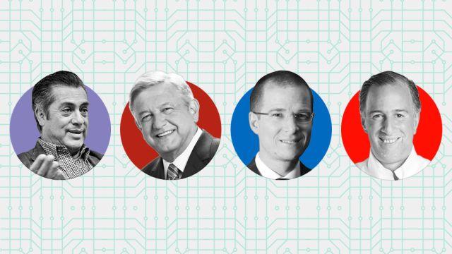 Candidatos Eleccion Mexico presidencia 2018 Tecnologia