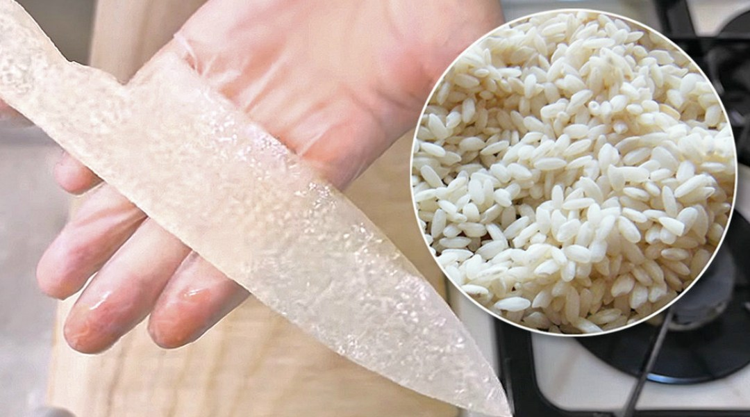 Este hombre convirtió el arroz en un cuchillo afilado