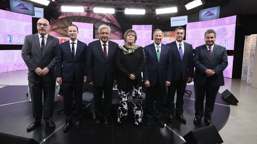 Imagen de los candidatos presidenciales de México