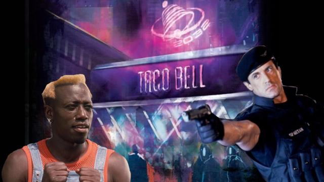 Taco Bell del futuro con Stallone y Snipes.