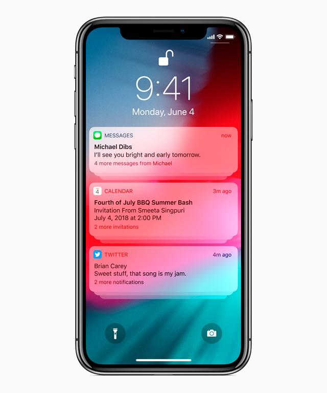 Todas las actualizaciones del nuevo iOS 12