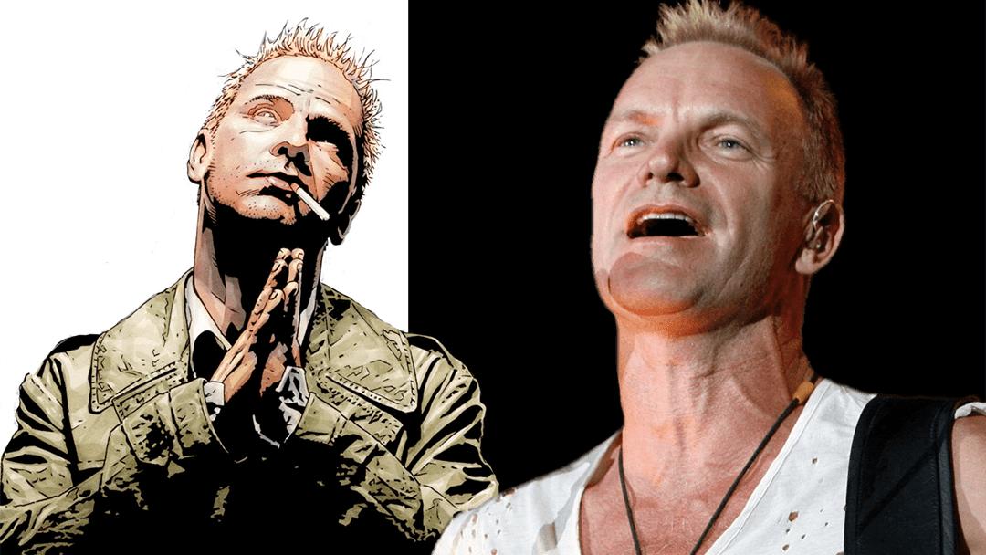 Sting y John Constantine, el personaje de cómic.