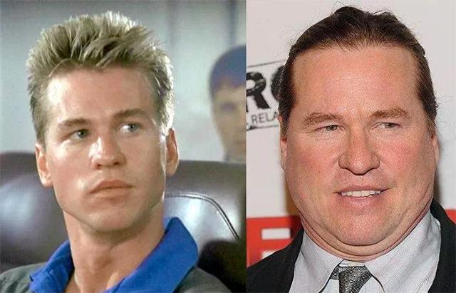 el actor Val Kilmer antes y ahora