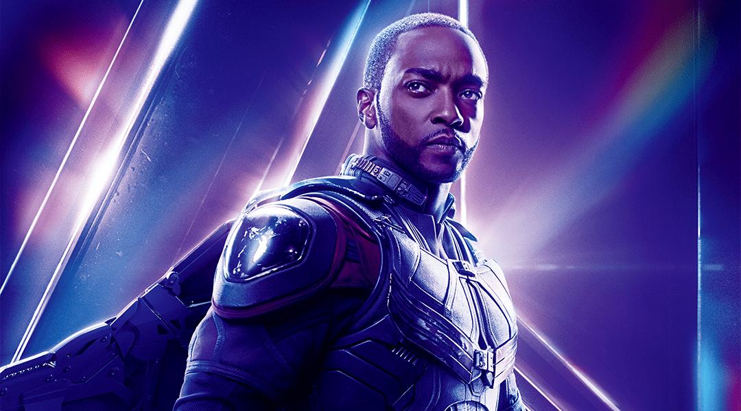 Anthony Mackie interpretando a Falcon en Marvel Studios