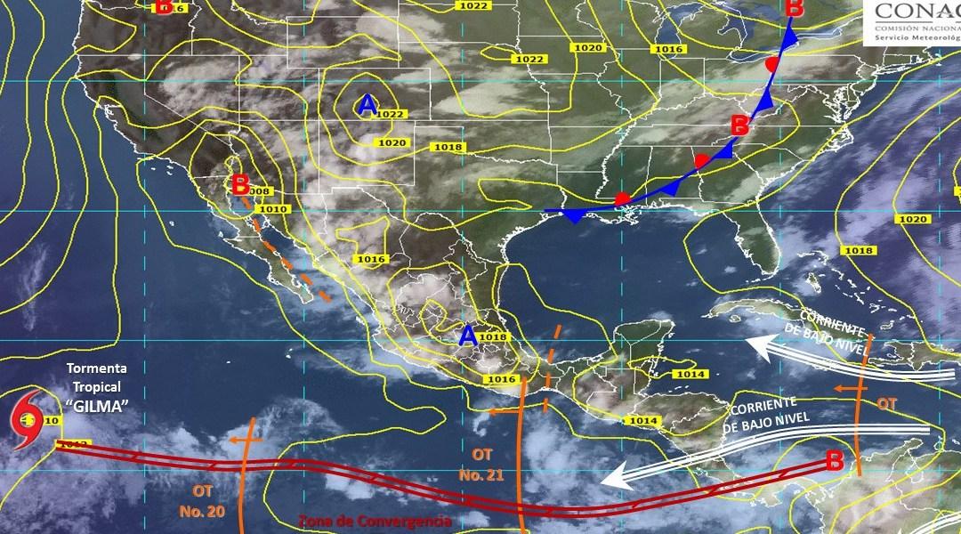 Pronóstico Meteorológico General realizado por Conagua