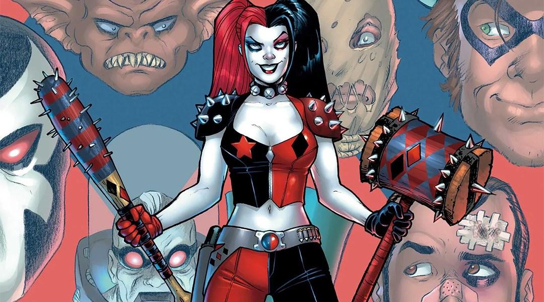 Fragmento de una portada de Harley Quinn