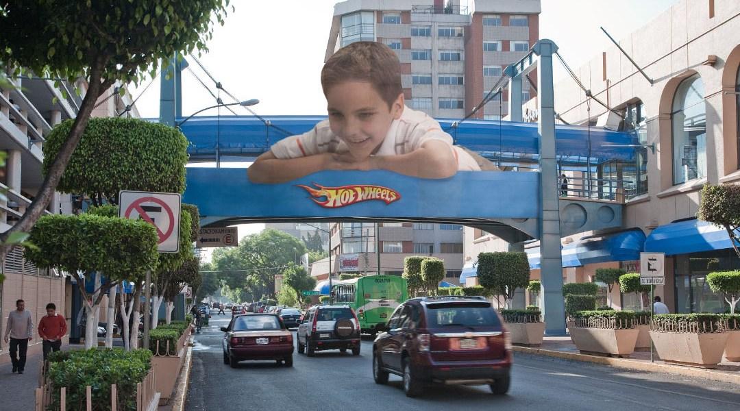 Publicidad de Mattel Hot Weels en México