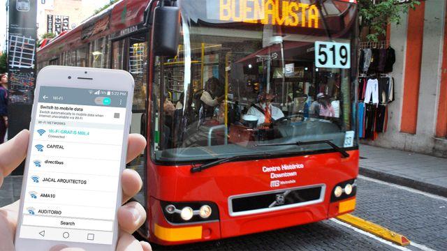 Un Metrobus y el servicio de internet