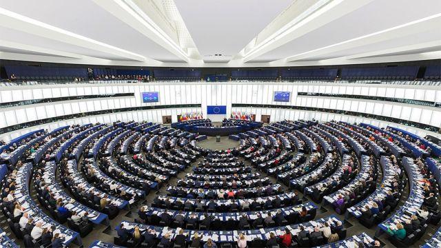 Una panoramica del Parlamento Europeo visto desde arriba)