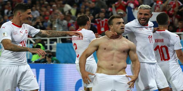 Una captura de pantalla de un partido de Suiza