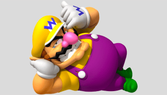 Wario, personaje de Nintendo, echado en el suelo