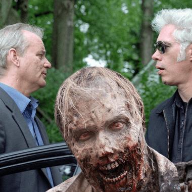 Bill Murray y jim Jarmush con un zombie terrorífico