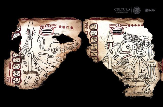 FRagmento del Códice Maya de México