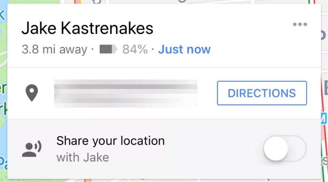 La ubicación compartida de Google Maps ahora muestra la duración de la batería