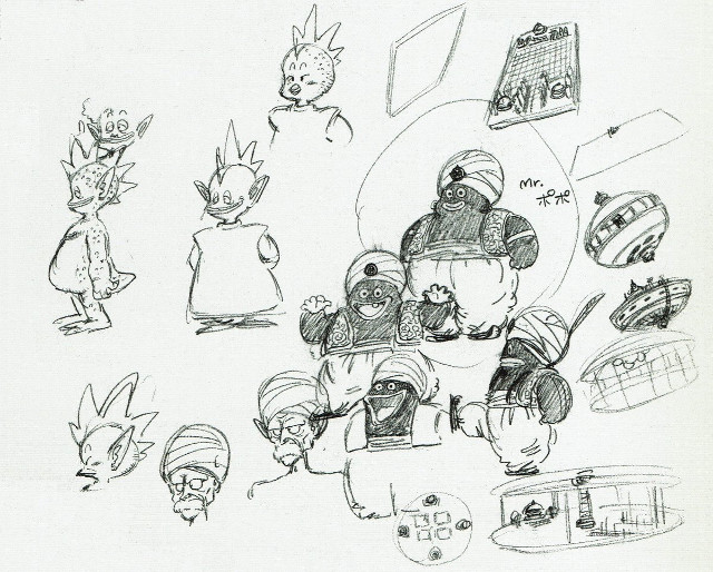 Boceto original de Mr Popo
