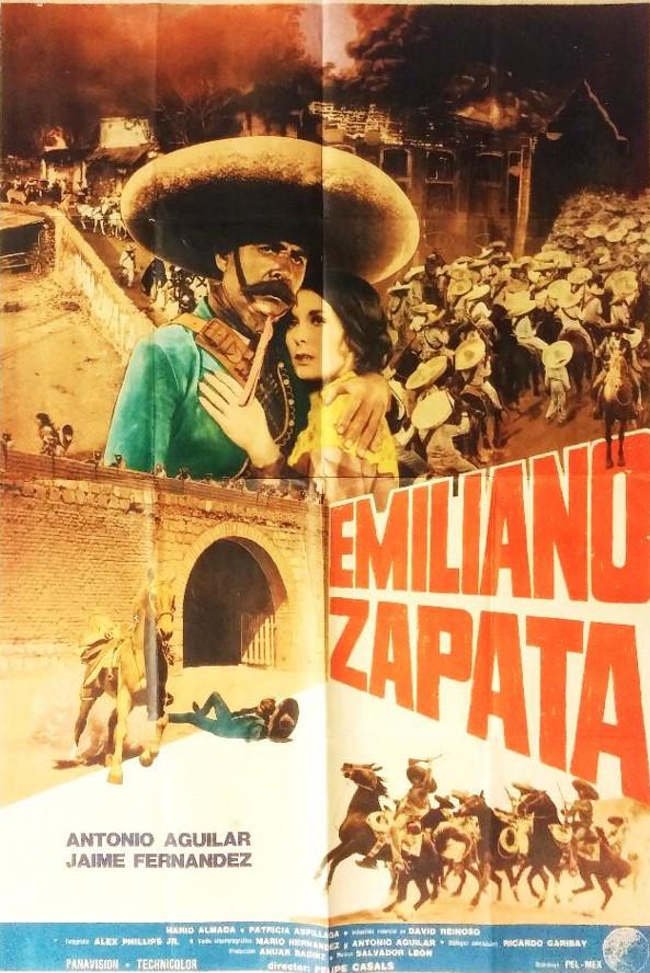 Uno de los cárteles promocionales de Emiliano Zapata la época, 1970