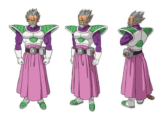 Diseño de Paragus para Dragon Ball Super: Broly (Toei Animation)