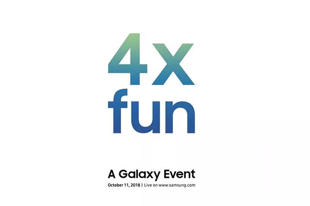 Invitación de Samsung para su próximo evento
