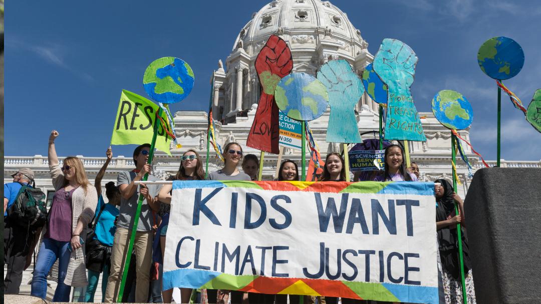 Los niños demandan a sus gobiernos por cambio climático