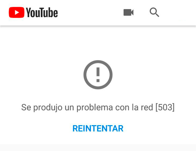 YouTube caida mundial
