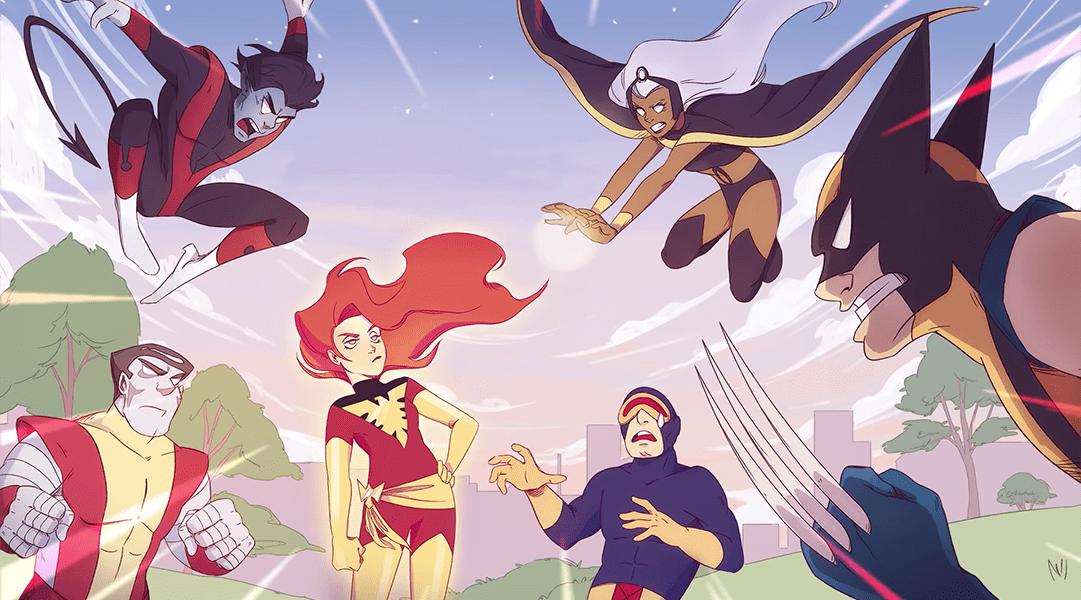 Una escena de The Dark Phoenix Saga