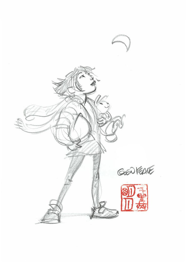 Un boceto de Over the Moon, de Glen Keane (estreno en Netflix, 2020)