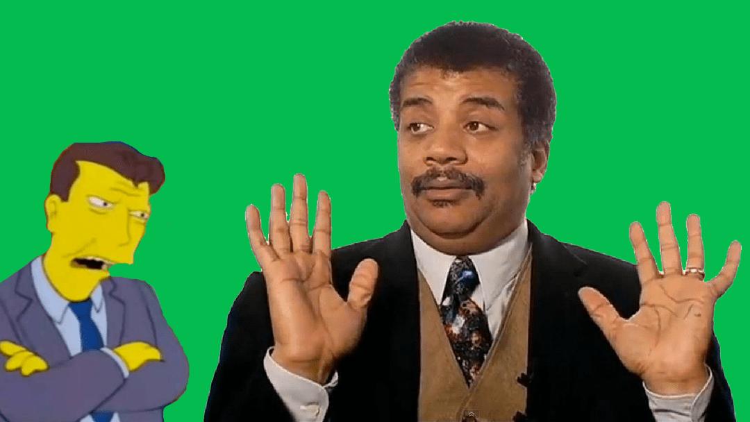 Neil deGrasse Tyson con Diosvado Salinas