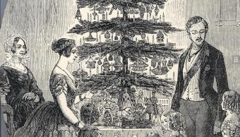 dibujo de la navidad de la Reina Victoria