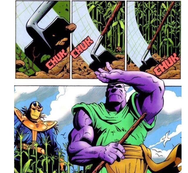 Thanos termina como granjero después de lograr su cometido, en los cómics (Marvel)